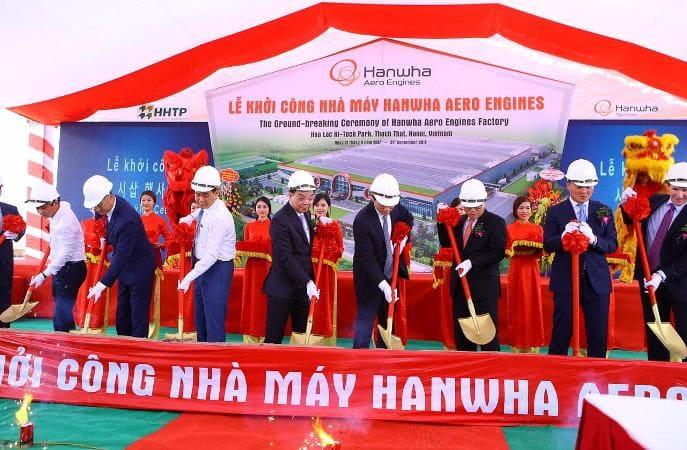 Nghi lễ khởi công dự án Nhà máy Hanwha Aero Engines