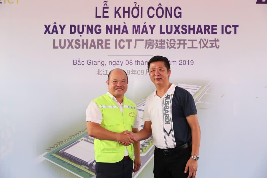 Lãnh đạo cấp cao của nhà thầu HICON và Chủ đầu tư Luxshare-ICT
